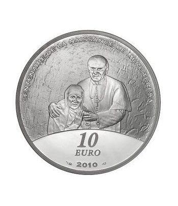 Francia 10 € 2010 Centenario nacimiento Madre Teresa  - 1