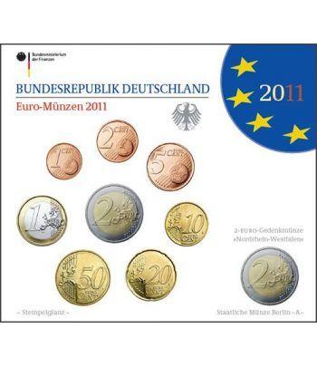 Cartera oficial euroset Alemania 2011 (5 cecas).  - 2