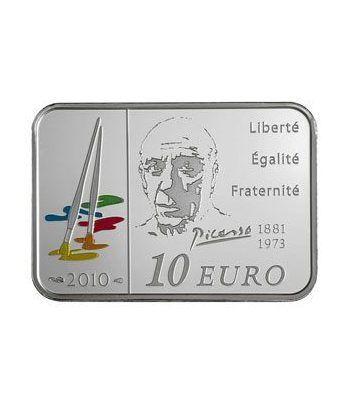 Francia 10 € 2010 Pablo Picasso. Plata Proof.  - 4