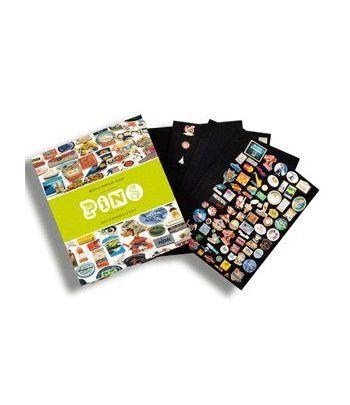 LEUCHTTURM Album grande para Pins con 4 hojas. Album varios - 2
