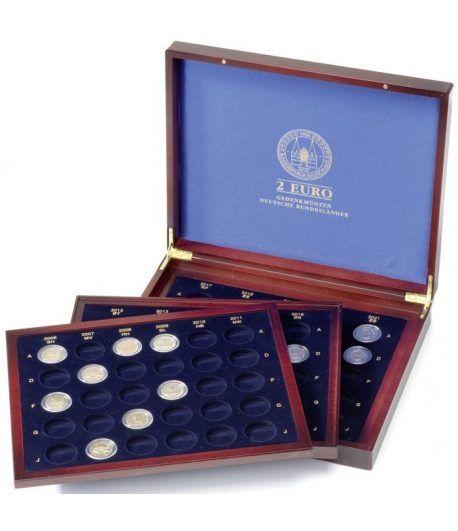 LEUCHTTURM Estuche para monedas 2€ Landes Alemanes en cápsulas. Estuche Monedas - 1
