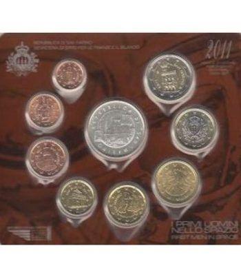 Cartera oficial euroset San Marino 2011 + 5€ (plata)  - 4