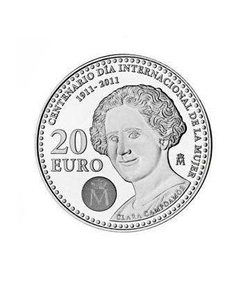 Moneda conmemorativa 20 euros 2011. Clara Campoamor. Plata.  - 2