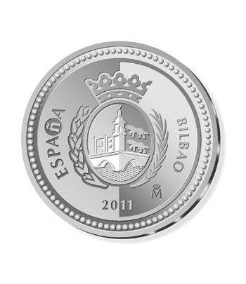 Moneda 2011 Capitales de provincia. Bilbao. 5 euros. Plata.  - 4
