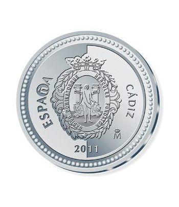 Moneda 2011 Capitales de provincia. Cádiz. 5 euros. Plata.  - 1