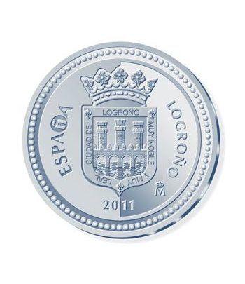 Moneda 2011 Capitales de provincia. Logroño. 5 euros. Plata.  - 1