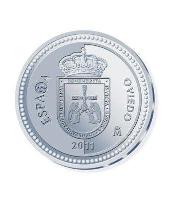 Moneda 2011 Capitales de provincia. Oviedo. 5 euros. Plata.  - 1