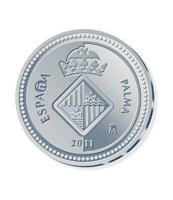 Moneda 2011 Capitales de provincia. Palma. 5 euros. Plata.  - 1