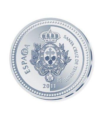 Moneda 2011 Capitales de provincia. Tenerife. 5 euros. Plata  - 1