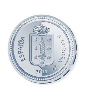 Moneda 2011 Capitales de provincia. A Coruña. 5 euros. Plata.  - 1