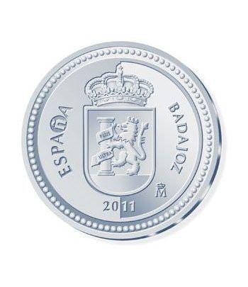 Moneda 2011 Capitales de provincia. Badajoz. 5 euros. Plata.  - 1