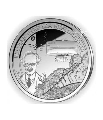 moneda Belgica 10 Euros 2011 Deep Sea Exploration. Proof.  - 1