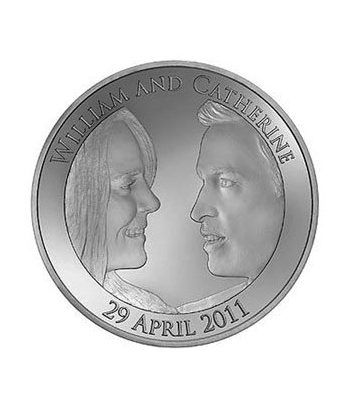 Moneda de plata Boda Real 5 Pounds Inglaterra 2011. Proof.  - 1