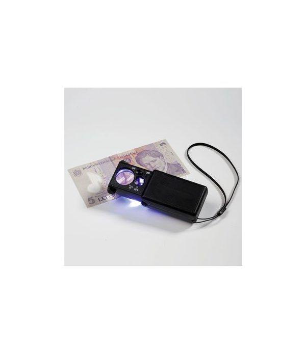 LEUCHTTURM Lupa desplegable-LED (10x) y lámpara UV. Lupas - 1