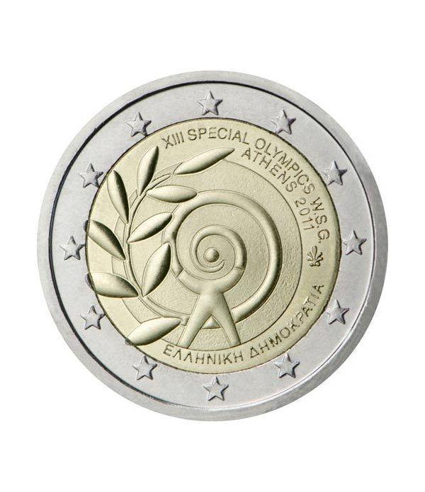 moneda conmemorativa 2 euros Grecia 2011.(Olimp.Especiales)  - 2