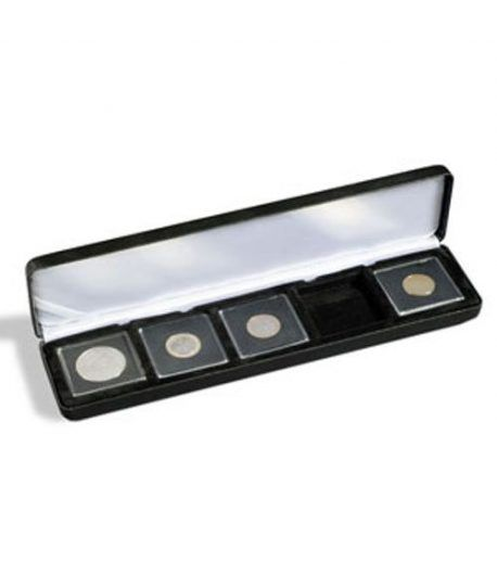 Estuche monedas metal NOBILE para 5 cápsulas QUADRUM. Estuche Monedas - 1