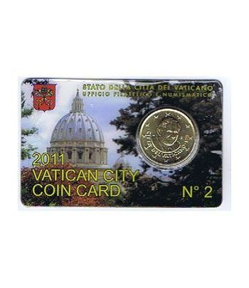 Cartera oficial euroset Vaticano 2011 (moneda 50cts.)  - 1