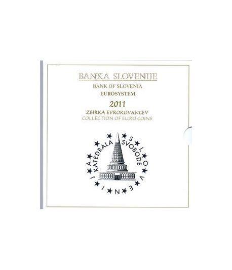 Cartera oficial euroset Eslovenia 2011 (incluye 2 y 3 euros)  - 1