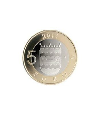 moneda Finlandia 5 Euros 2011 (5ª). Uusima.  - 1