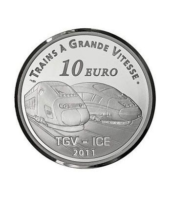 Francia 10 € 2011 Metz TGV. Tren.  - 1
