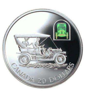 Canada 20$ (2001) Serie transportes Plata holograma. Automovil.  - 2