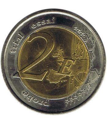 moneda conmemorativa 2 euros Monaco 2007 Grace kelly Prueba  - 2