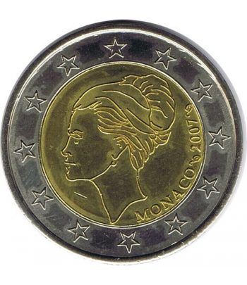 moneda conmemorativa 2 euros Monaco 2007 Grace kelly Prueba  - 4