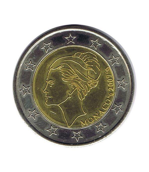 moneda conmemorativa 2 euros Monaco 2007 Grace kelly Prueba  - 1