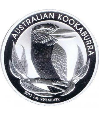 Moneda onza de plata 1$ Australia Kookaburra 2012  - 1