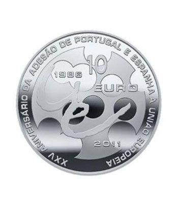 Portugal 10 Euros 2011 25º Aniv. Adhesión U.E. Cuproníquel.  - 1