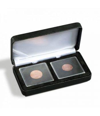 Estuche monedas metal NOBILE para 2 cápsulas QUADRUM. Estuche Monedas - 1