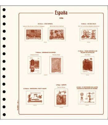 FILOBER sellos ESPAÑA 1974 montado con estuches. Hojas FILOBER Cultural - 2