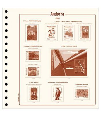 FILOBER Andorra Esp. 1985 (montado con estuches). Hojas FILOBER Cultural - 2