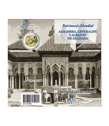 Cartera oficial euroset 2 Euros España 2011 (Alhambra) Proof  - 1