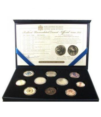 Cartera oficial euroset Malta 2011. Incluye 2€ conmemorativos  - 2