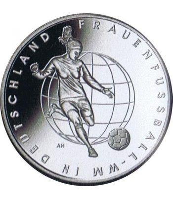 moneda Alemania 10 Euros 2011 Futbol femenino.  - 2