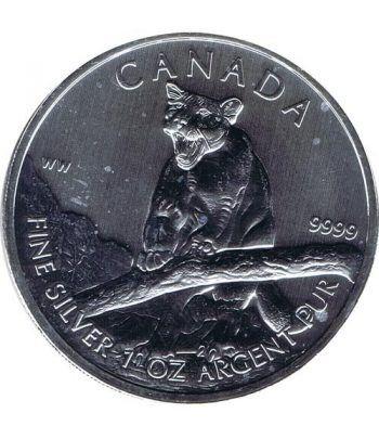 Moneda onza de plata 5$ Canada Puma 2012  - 1