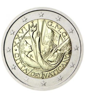 moneda conmemorativa 2 euros Vaticano 2011. Estuche Oficial.  - 2