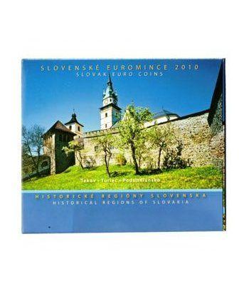 Cartera oficial euroset Eslovaquia 2010. Regiones Históricas.  - 1