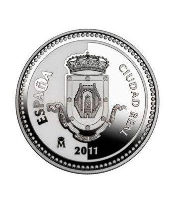 Moneda 2011 Capitales de provincia. Ciudad Real. 5 euros. Plata.  - 1