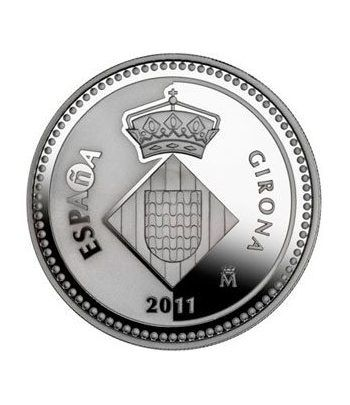 Moneda 2011 Capitales de provincia. Girona. 5 euros. Plata.  - 4