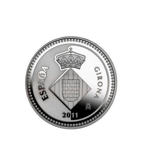 Moneda 2011 Capitales de provincia. Girona. 5 euros. Plata.  - 1