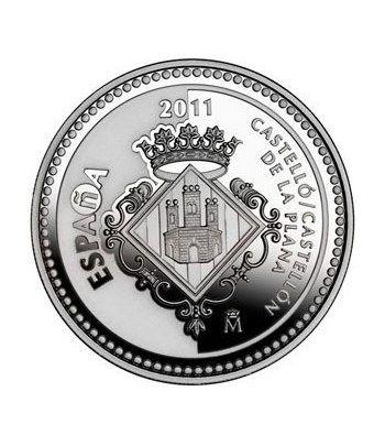 Moneda 2011 Capitales de provincia. Castellón. 5 euros. Plata.  - 1