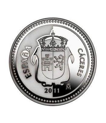 Moneda 2011 Capitales de provincia. Cáceres. 5 euros. Plata.  - 1
