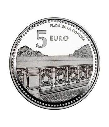 Moneda 2011 Capitales de provincia. S. Sebastian. 5 euros. Plata  - 2