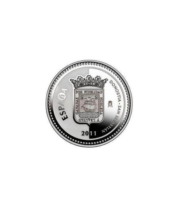 Moneda 2011 Capitales de provincia. S. Sebastian. 5 euros. Plata  - 1