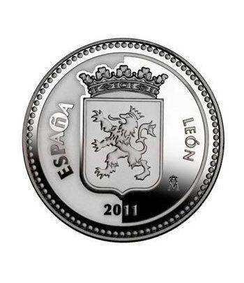 Moneda 2011 Capitales de provincia. León. 5 euros. Plata.  - 1