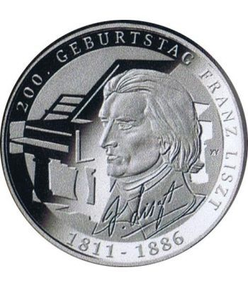 moneda Alemania 10 Euros 2011 G. Franz Liszt. Plata.  - 1