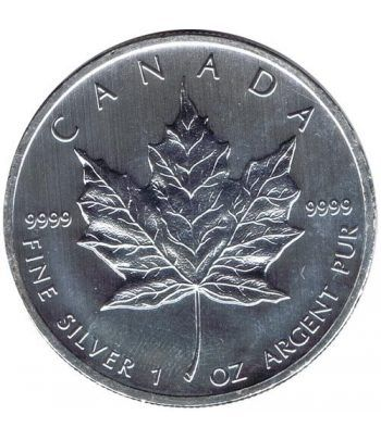 Moneda onza de plata 5$ Canada Hoja de Arce 2012  - 2