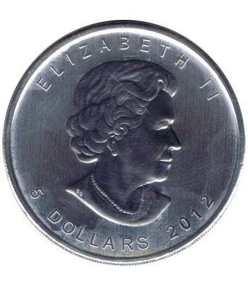 Moneda onza de plata 5$ Canada Hoja de Arce 2012  - 4